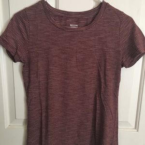 Mossimo Supply Co. Tops - Maroon and white T-shirt mossimo summer